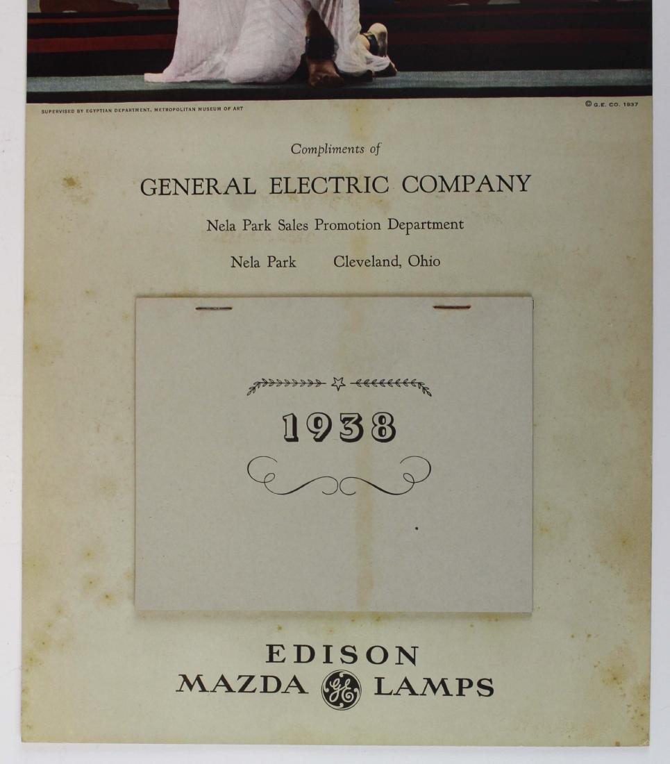 1938 Victor Keppler Edison Mazda calendar - 4