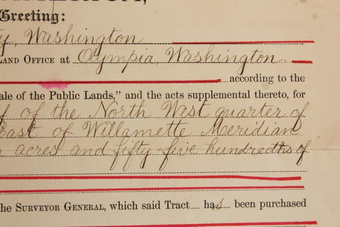 1904 Theodore Roosevelt US land grant - 5