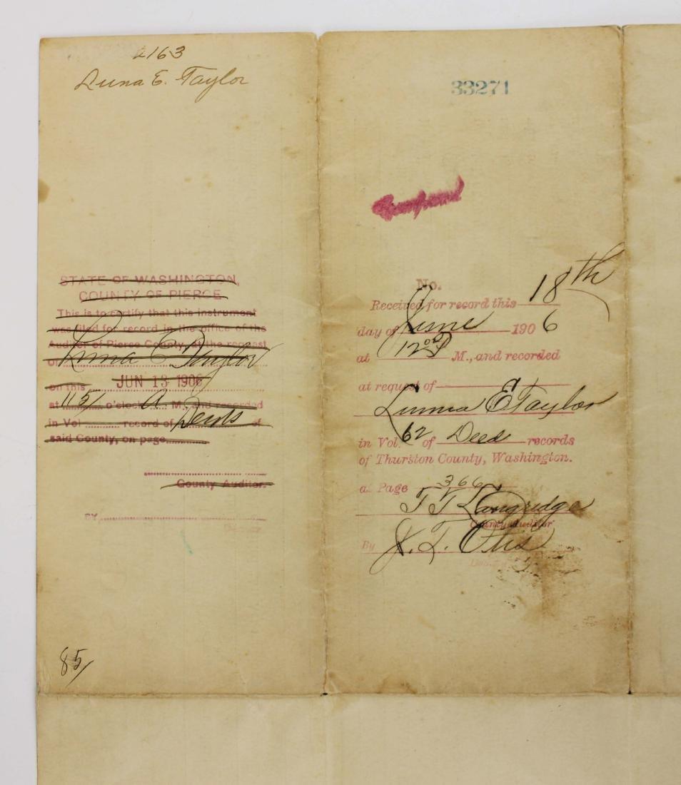 1904 Theodore Roosevelt US land grant - 9