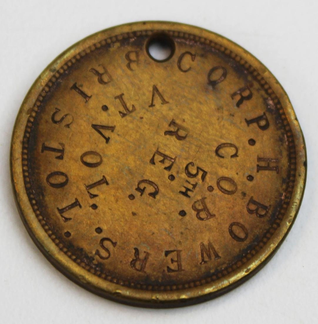 VT Civil War soldier's dog tag