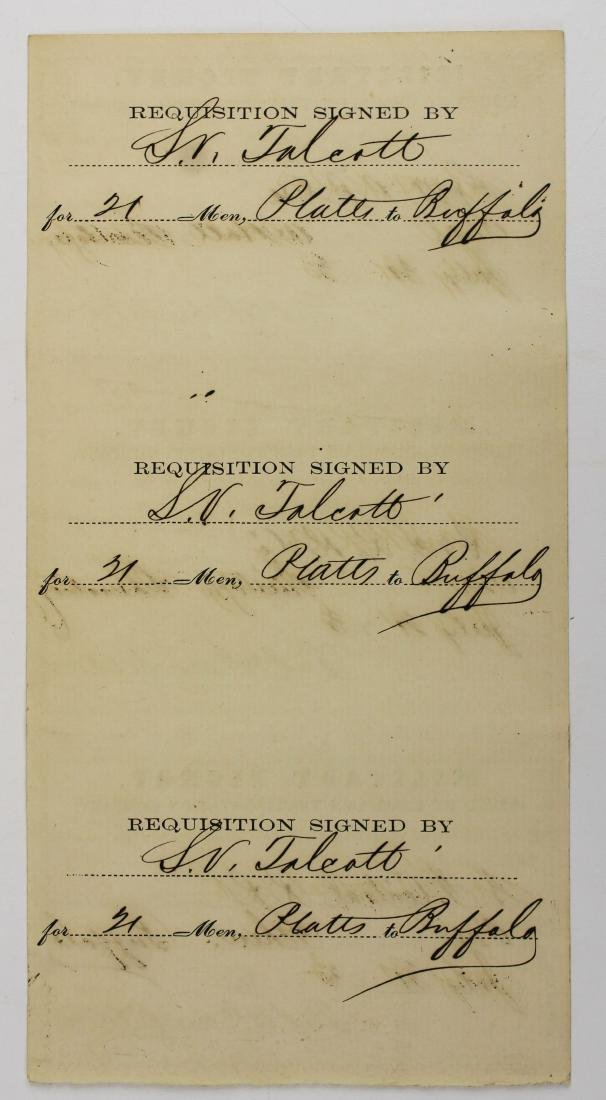 1863 VT Civil War transportation ticket - 2
