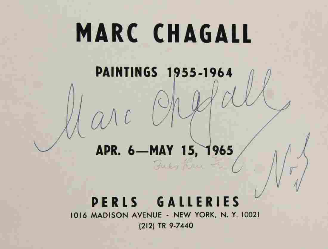 1965 Marc Chagall signed exhibition catalogue