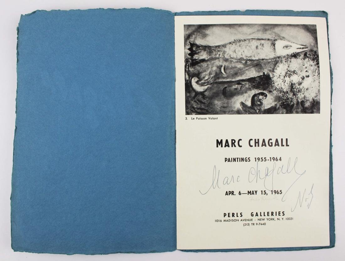 1965 Marc Chagall signed exhibition catalogue - 2