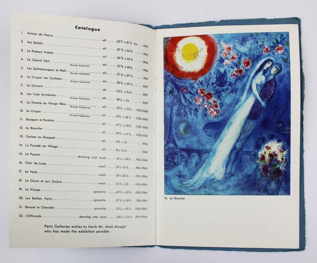 1965 Marc Chagall signed exhibition catalogue - 4