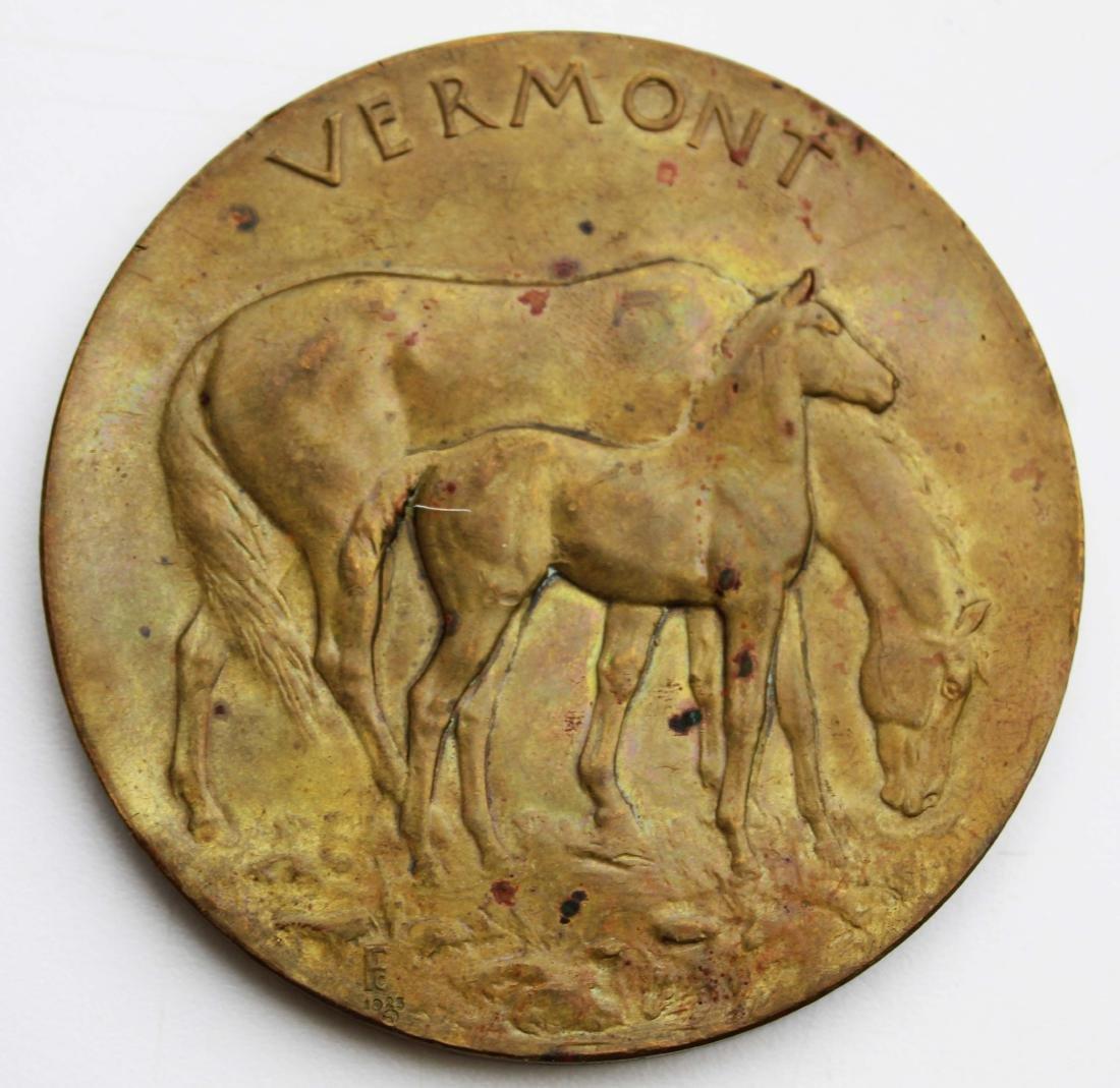 1923 Morgan Horse Club VT bronze medal