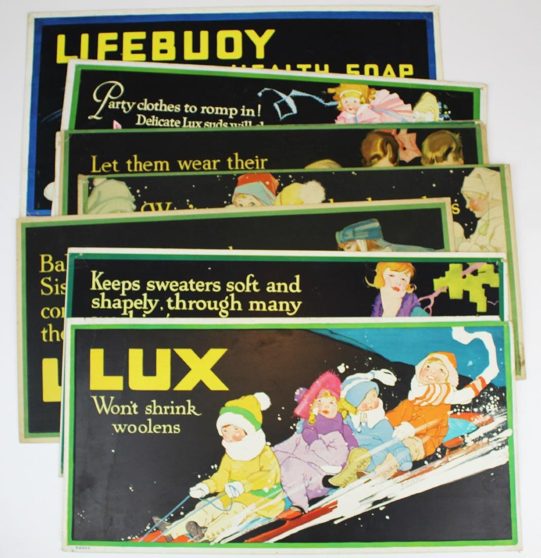 ca 1900 Lux Soap advertising signs