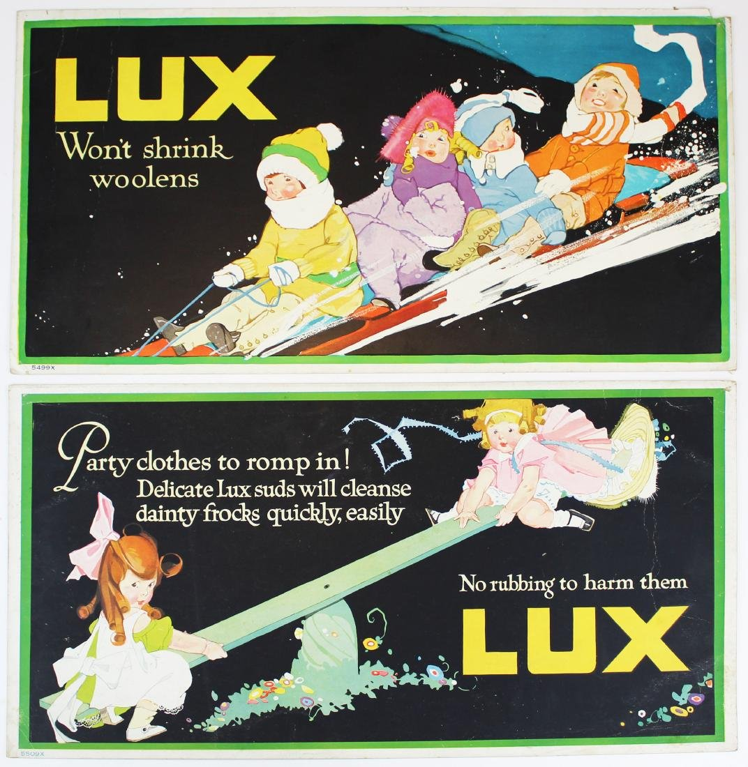 ca 1900 Lux Soap advertising signs - 3