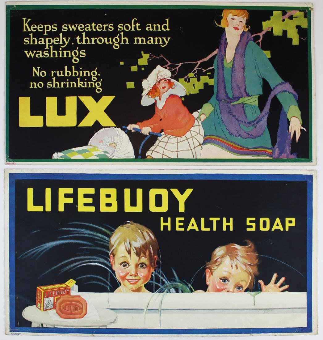 ca 1900 Lux Soap advertising signs - 4