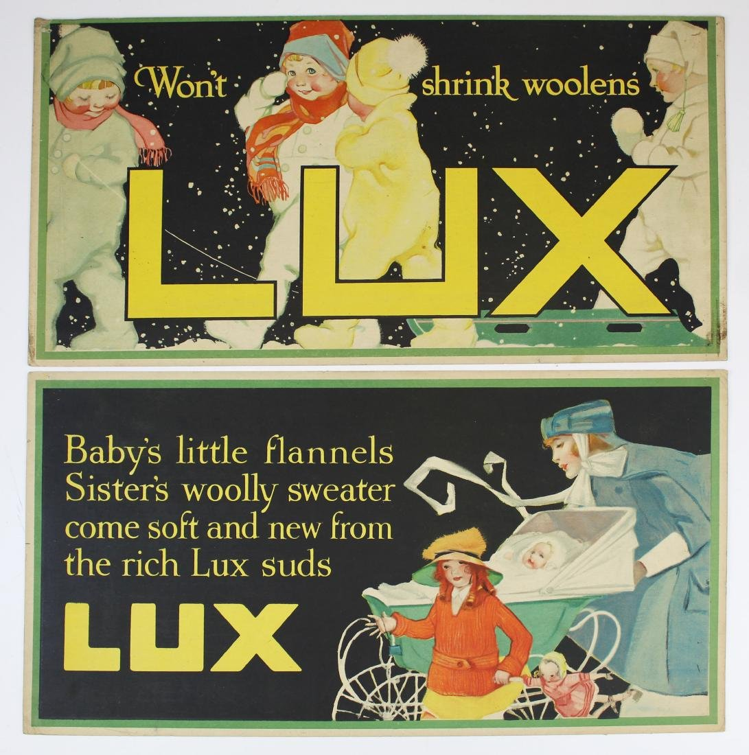 ca 1900 Lux Soap advertising signs - 5