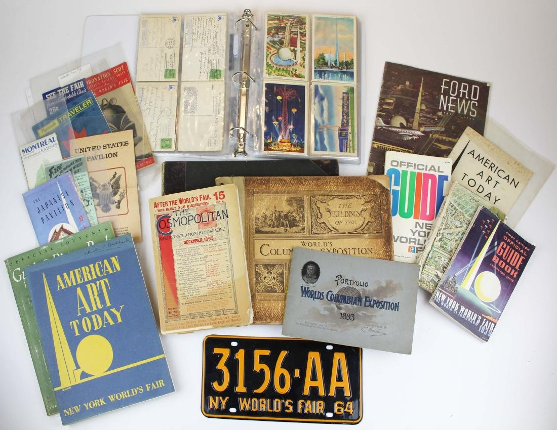 collection of World's Fair and Expo ephemera