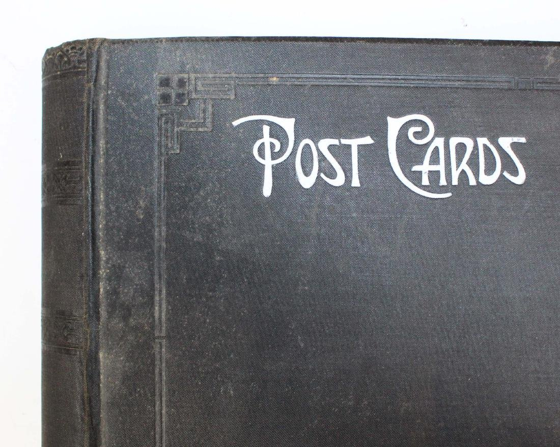 large album containing 224 occasional postcards - 2