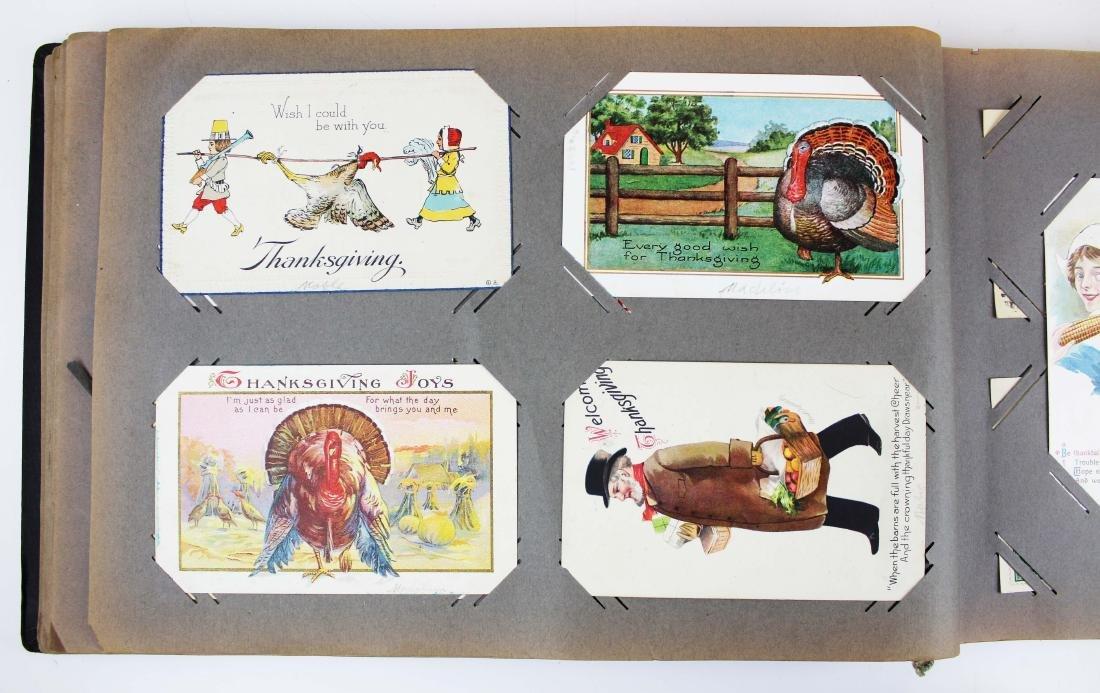 large album containing 224 occasional postcards - 4