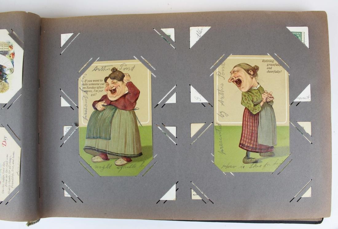 large album containing 224 occasional postcards - 5