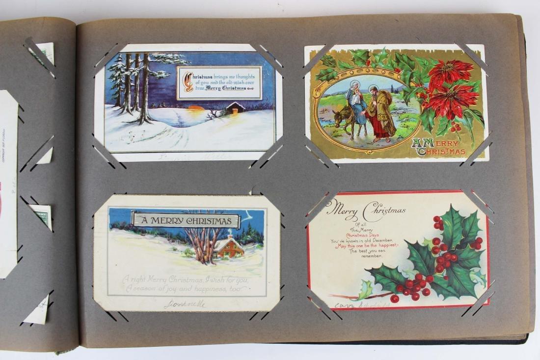 large album containing 224 occasional postcards - 6