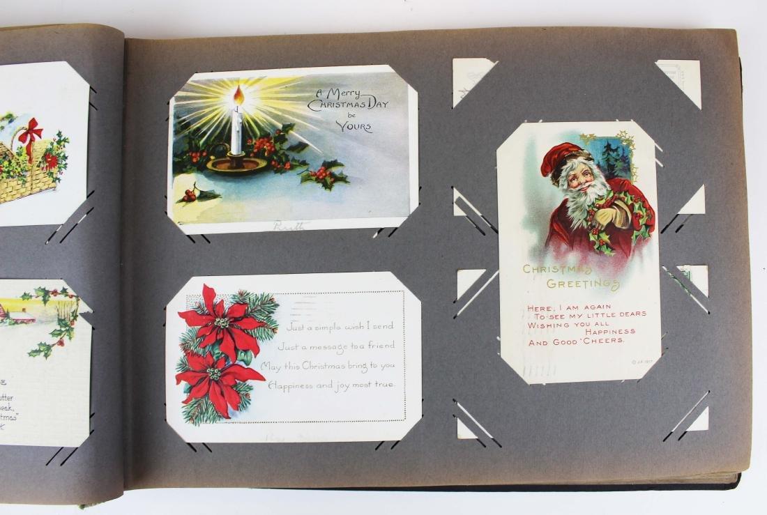 large album containing 224 occasional postcards - 7
