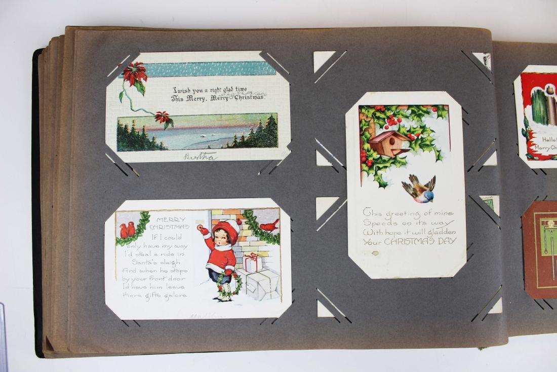 large album containing 224 occasional postcards - 8