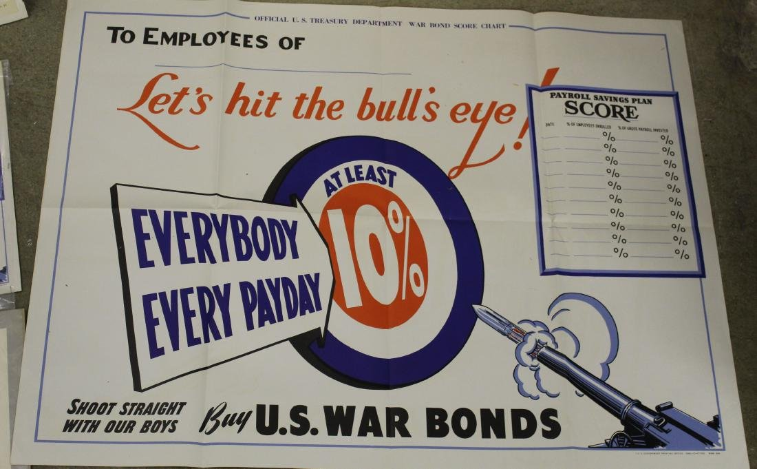 Six WWII War Bond posters - 2