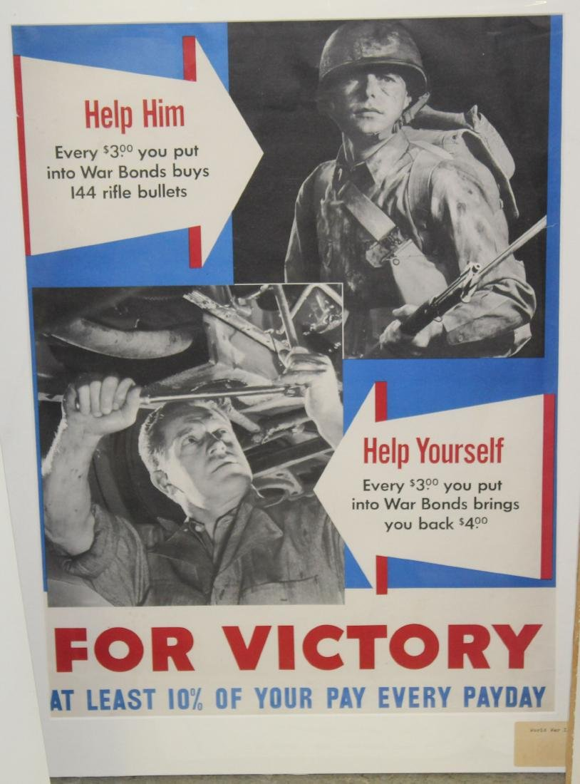 Six WWII War Bond posters - 5