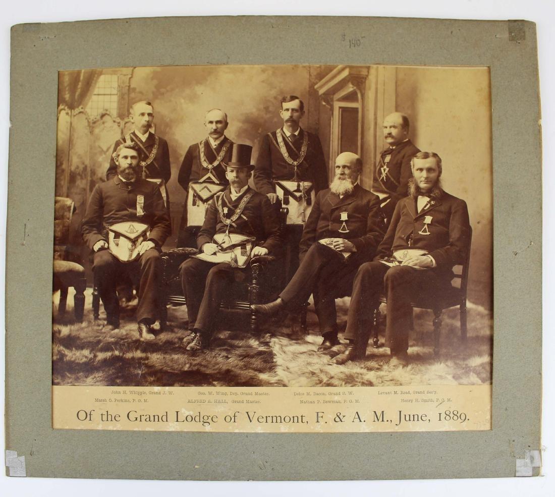 1889 Vermont Masonic Lodge group photograph