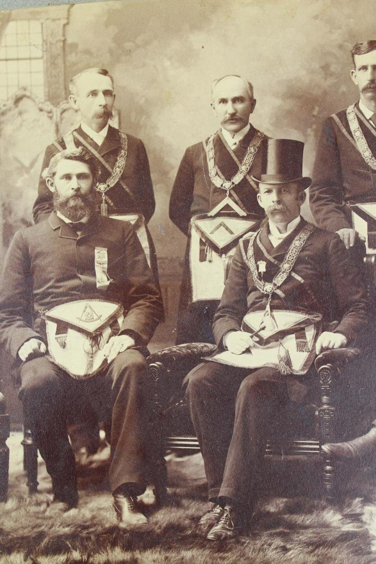 1889 Vermont Masonic Lodge group photograph - 2