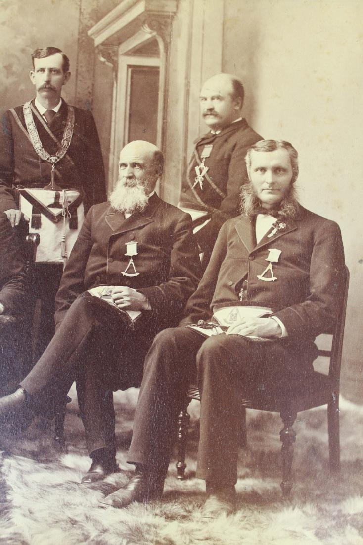 1889 Vermont Masonic Lodge group photograph - 3