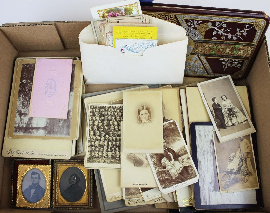 collection of historic photography, reward cards
