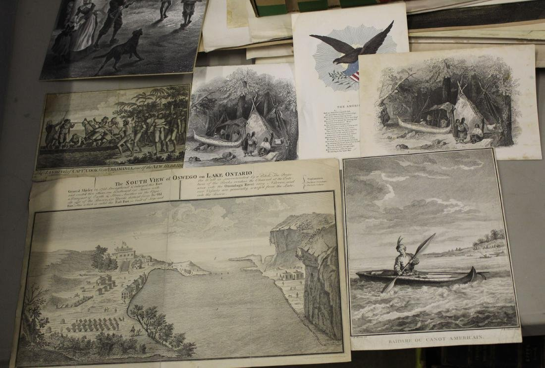 Lot of 18th and 19th c engravings of First Nations