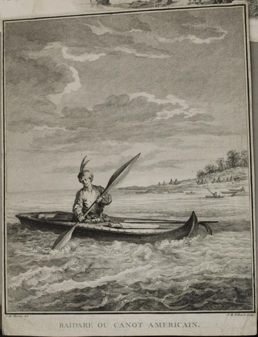 Lot of 18th and 19th c engravings of First Nations - 2