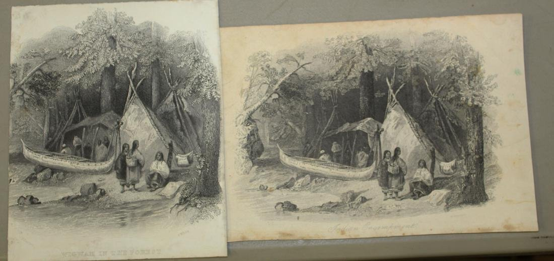 Lot of 18th and 19th c engravings of First Nations - 4