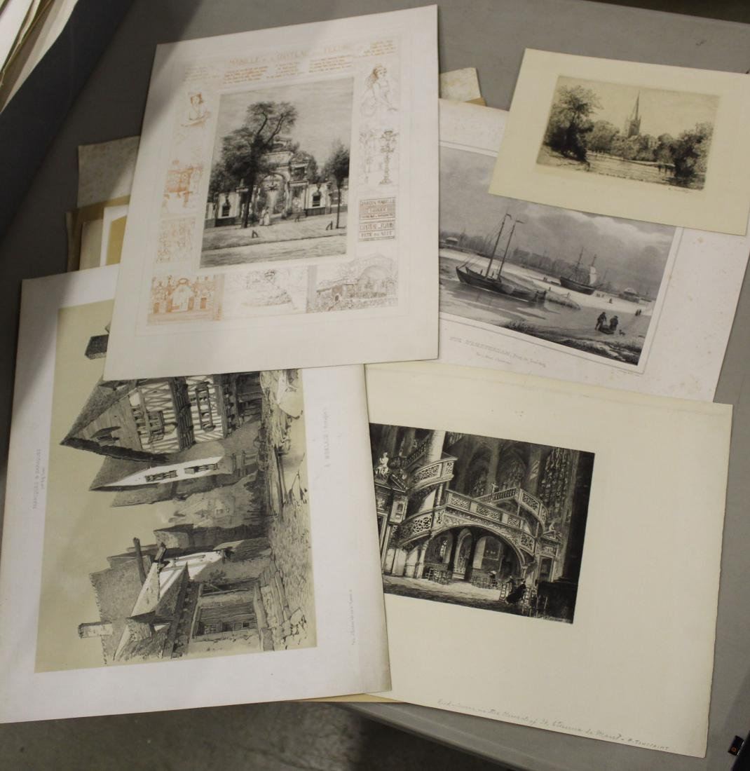 Lot of 19th c Architectural prints