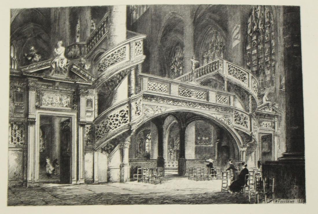 Lot of 19th c Architectural prints - 5