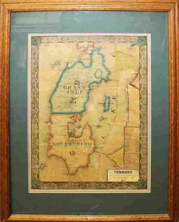 1857 Walling map of Grand Isle, VT