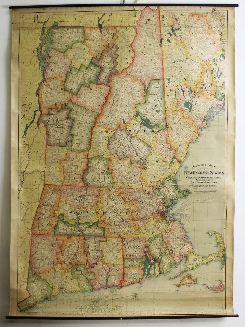 1907 Scarborough's Map of the NE States