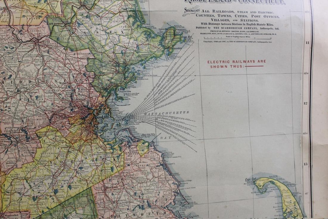 1907 Scarborough's Map of the NE States - 3