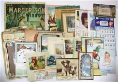 NH Advertising calendar heads, litho prints