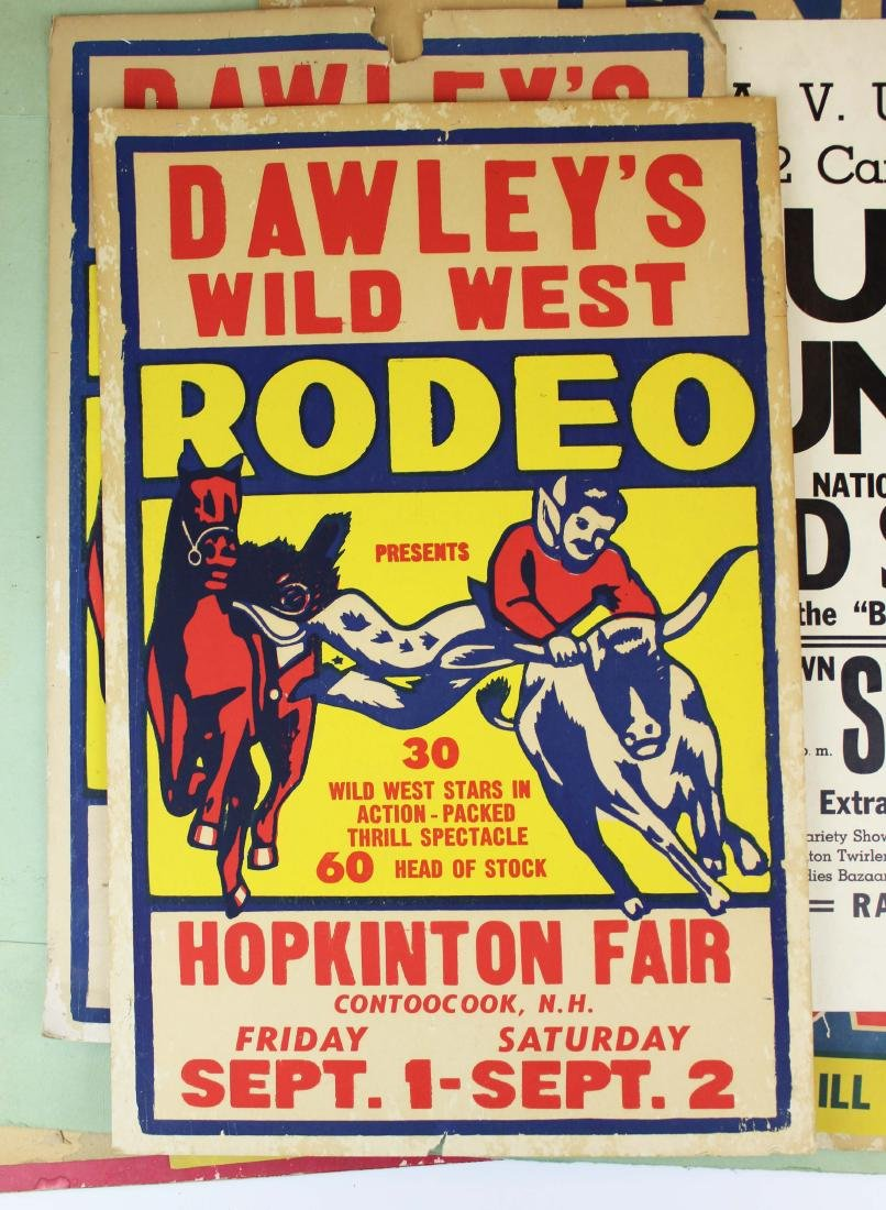 NH rodeo, racing and hand painted broadsides - 2