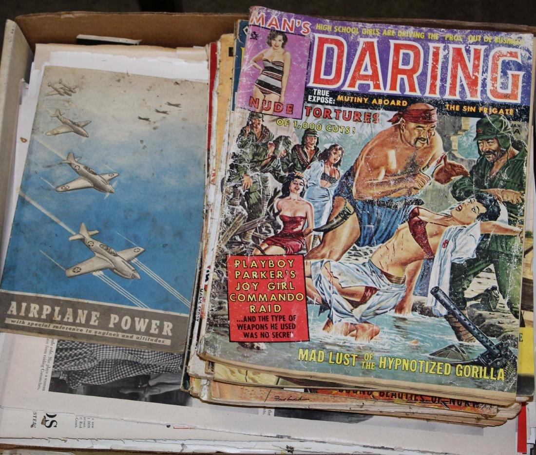 collection of vintage magazines, periodicals, etc.