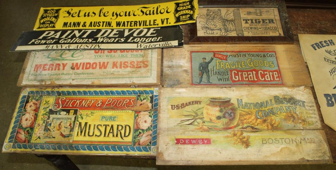 Lot of Box Sides and advertising
