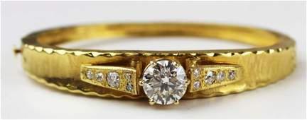 Beautiful 3 carat diamond solitaire bracelet