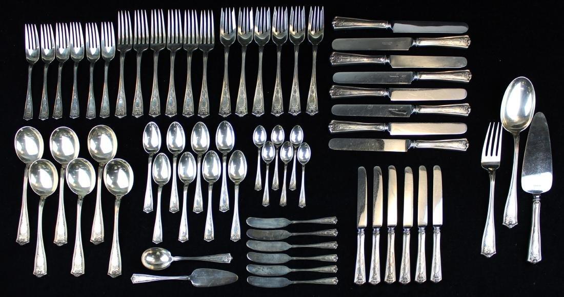 63 pcs. Tiffany & Co. Winthrop sterling flatware
