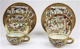 late 19th c Japanese Satsuma tableware
