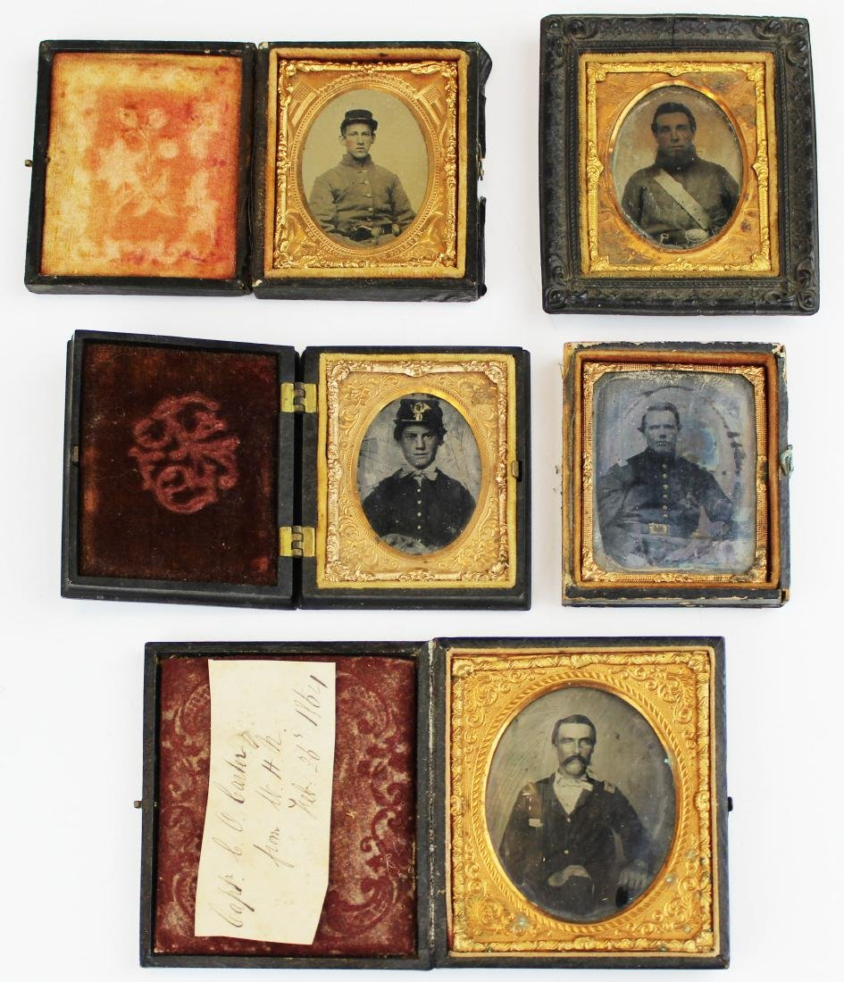 Civil War tintypes, ambrotype of Union soldiers
