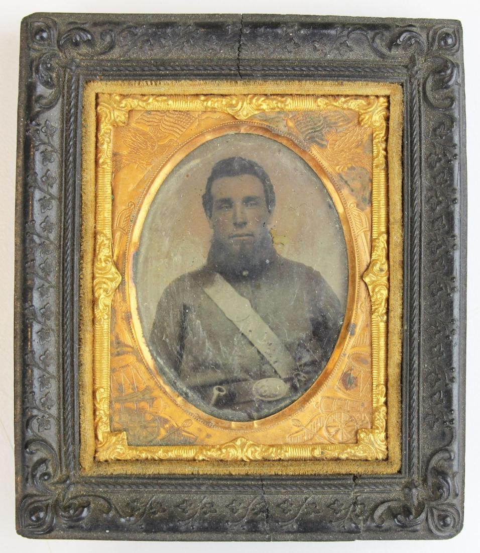 Civil War tintypes, ambrotype of Union soldiers - 5
