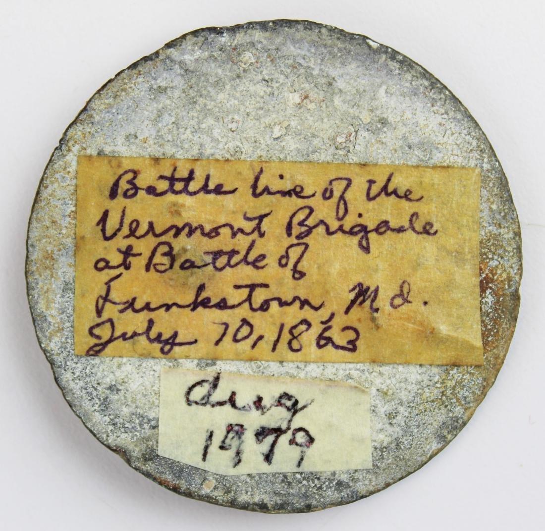 VT Civil War cartridge box sling breast plate - 2