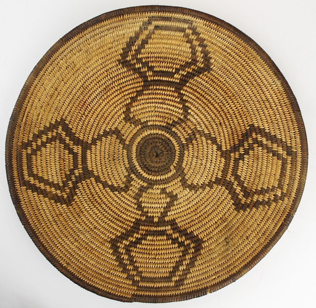mid 20th c Southwest Pima coiled basket tray