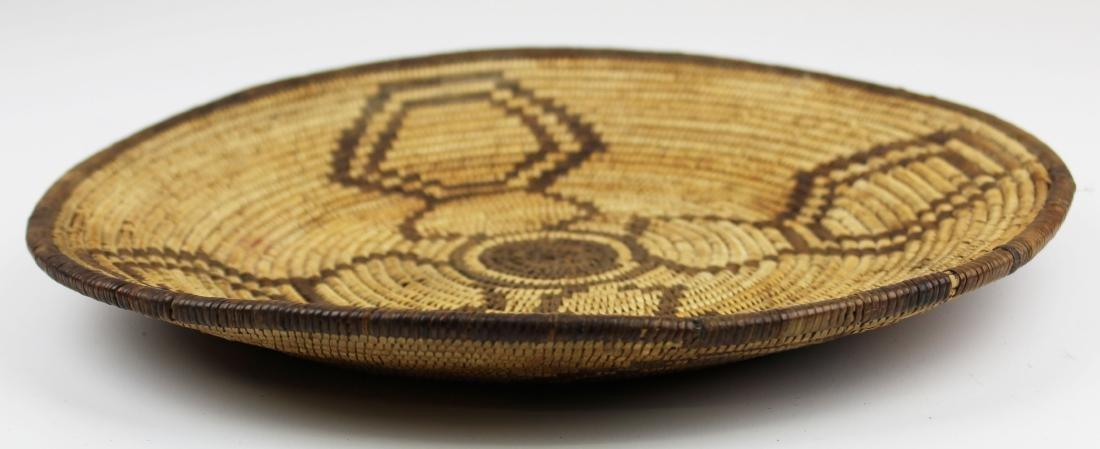 mid 20th c Southwest Pima coiled basket tray - 2