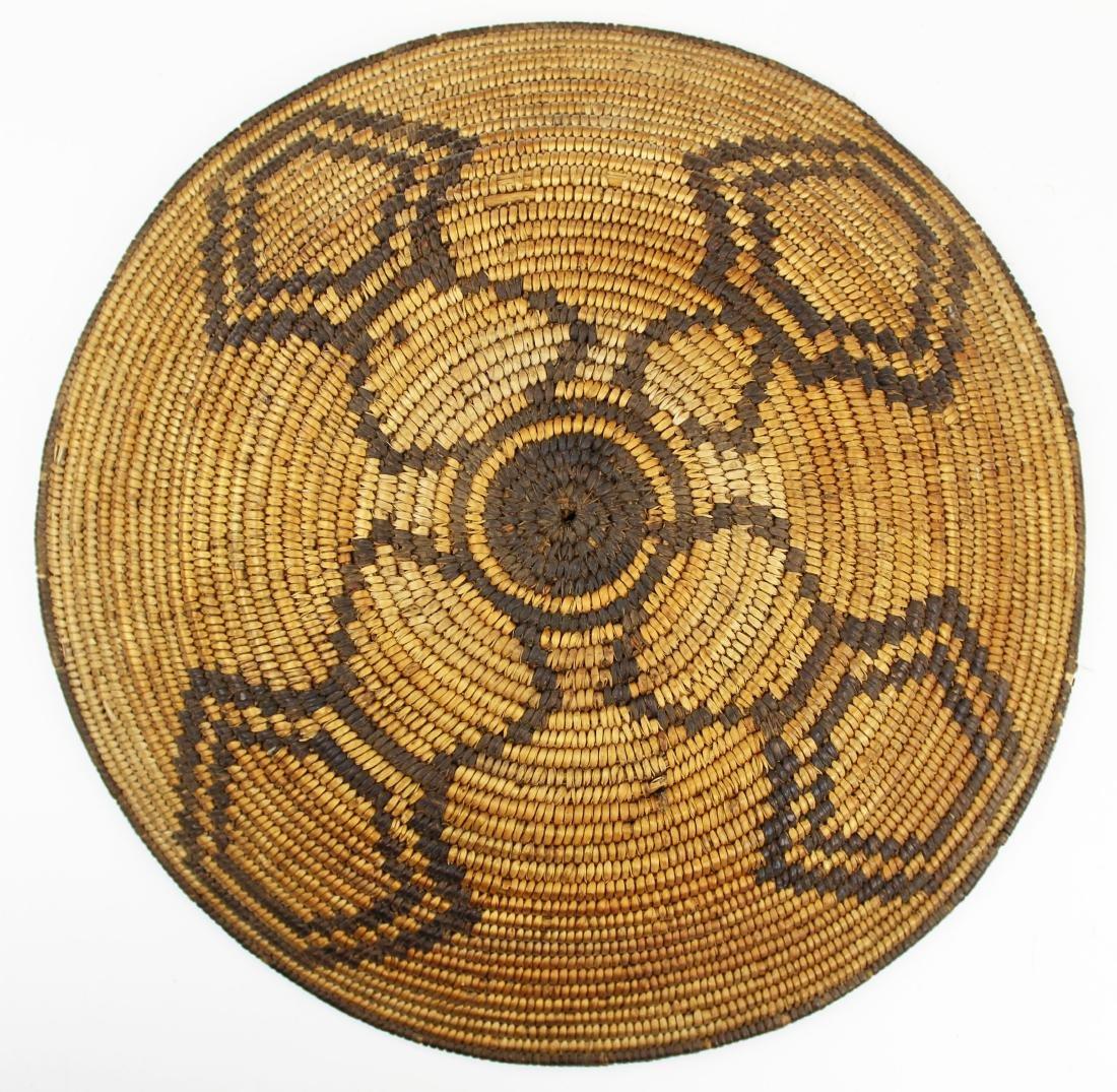 mid 20th c Southwest Pima coiled basket tray - 5