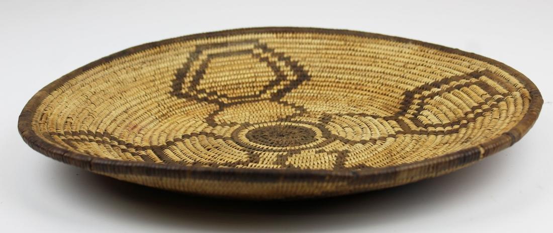 mid 20th c Southwest Pima coiled basket tray - 7