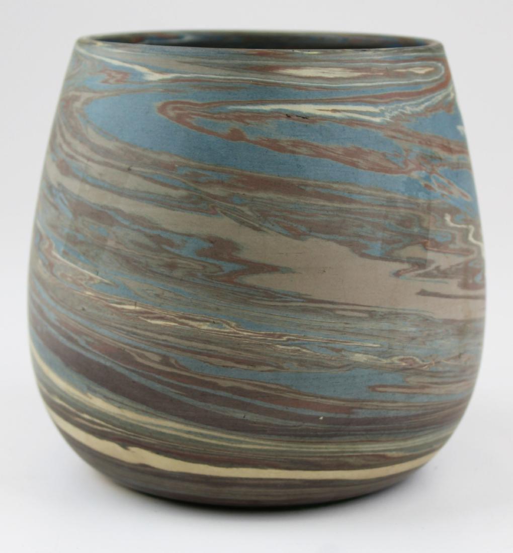 Niloak Mission swirl marbleized art pottery vase