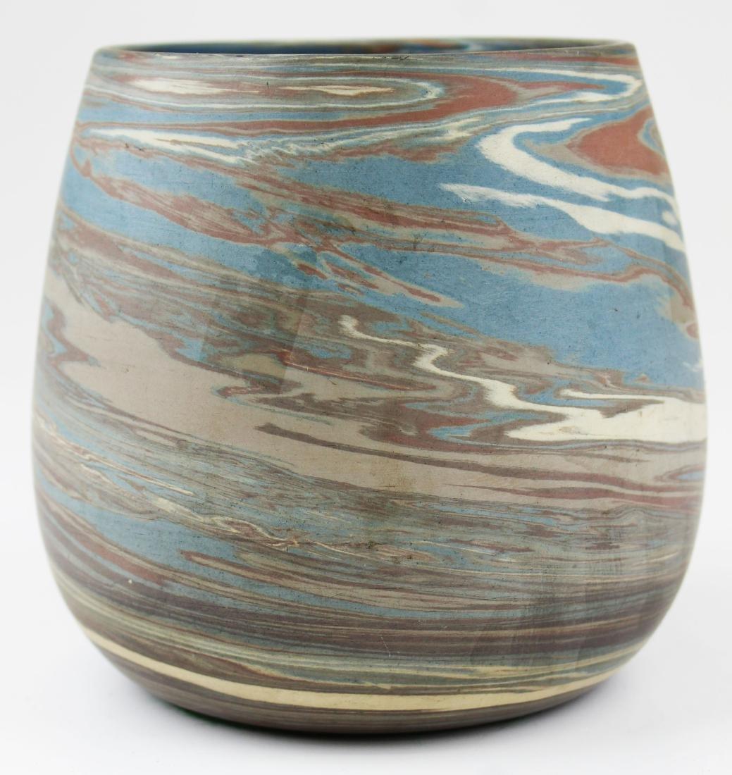 Niloak Mission swirl marbleized art pottery vase - 3